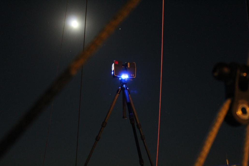 Laserscanner für die Vermessung von Regattabooten
