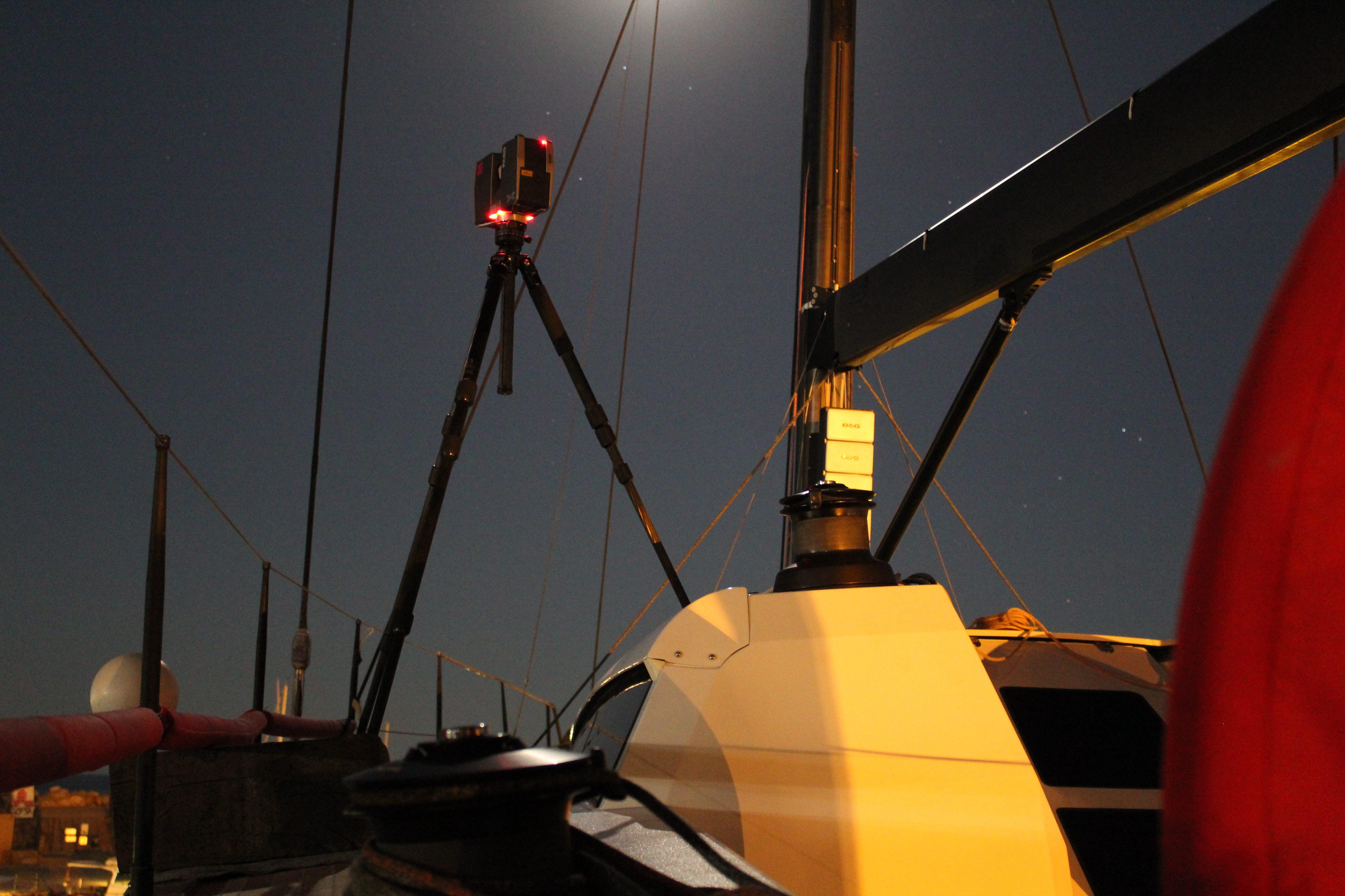 Laserscan zur Bootsoptimierung